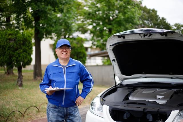 車の査定にきた業者の男性